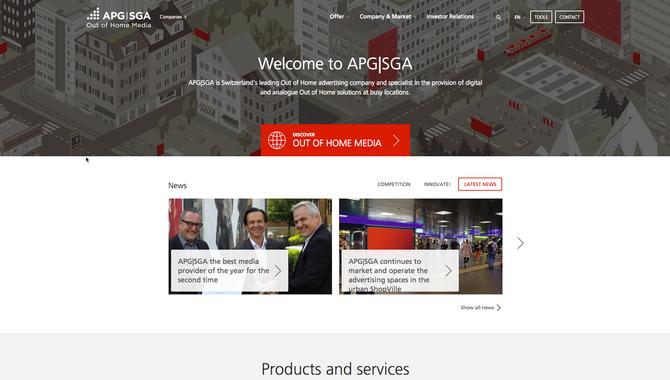 APG/SGA - Mobile optimised interface
